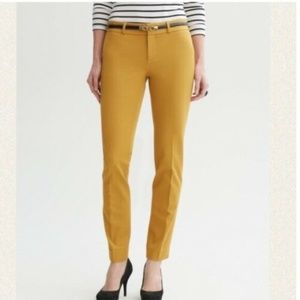 Banana Republic Martin Fit Mustard Ankle Pants